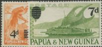 Papua New Guinea SG16-7 Surcharge definitives set of 2